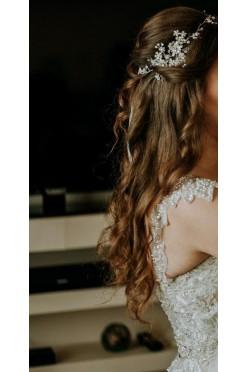 Piękna opaska, ozdoba do włosów ślubna NOVIA BLANCA