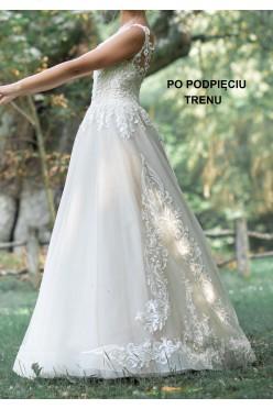 Suknia ślubna La Petra Belinda 36/38 z podpinanym trenem