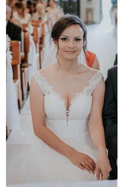 Sprzedam suknię ślubną ISSEL w kolorze śmietankowa biel.