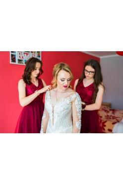 Suknia ślubna koronka, syrenka, dekold