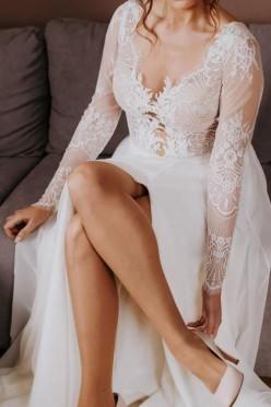 Suknia ślubna Diana Soho r 38 styl boho koronka