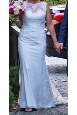 suknia Sposabella1810 koronkowa z trenem
