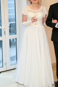 Suknia ślubna -skromna