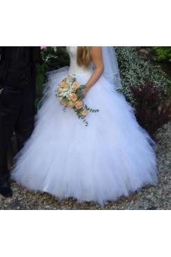 Suknia ślubna tiul 36