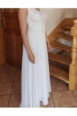 Sukienka ecru maxi