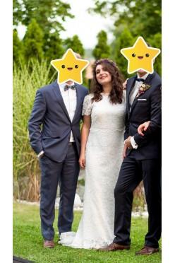 Koronkowa Suknia Ślubna w stylu rustykalnym