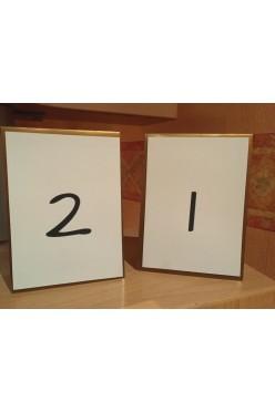 numerki na stół kolor złoty