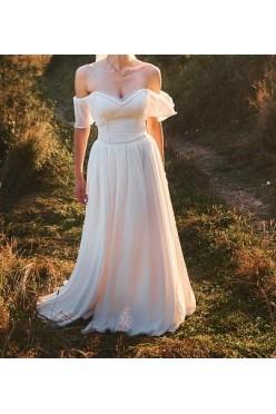 Dziewczęca suknia ślubna - hiszpanka - rozmiar S