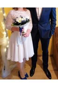 Krótka suknia ślub cywilny