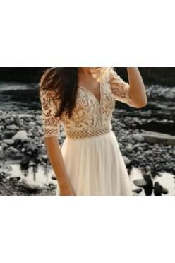 Suknia odpinane rękawki
