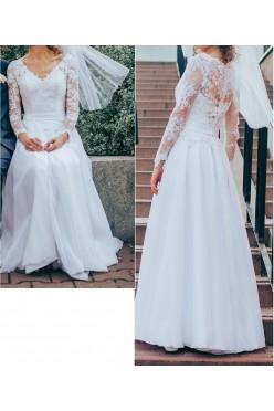 Biała suknia ślubna,r. 38,180 cm