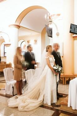 Suknia Ślubna Agnieszka Światły tiffany 36/s
