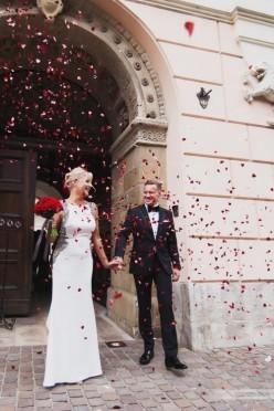 Suknia ślubna Tarik Ediz z salonu Madonna haute couture