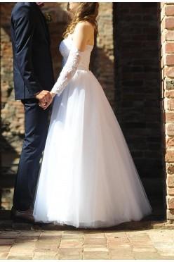 Suknia ślubna rozm. 36 160cm wzrostu + obcas