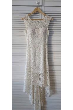 Biała koronkowa sukienka na ślub/poprawiny