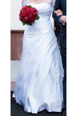 Suknia ślubna White Lady rozmiar 34 + bolerko