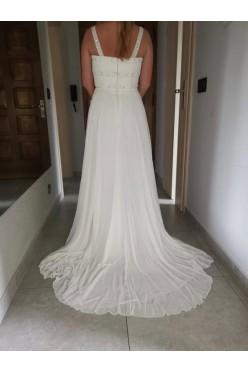 Suknia ślubna San Patrick EBANO biała, rozm 40 szyfonowa