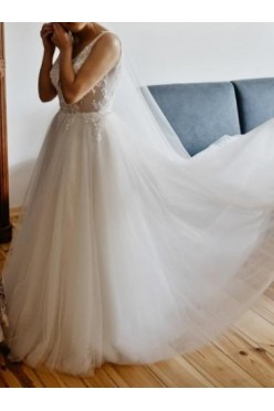Suknia ślubna rozmiar 38 Herm's Bridal + długi welon gratis!