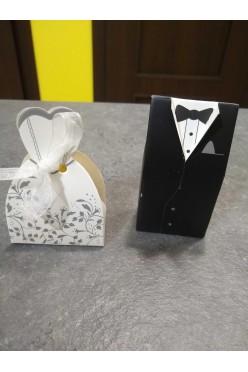 Pudełka Prezent dla gości - Suknia i frak
