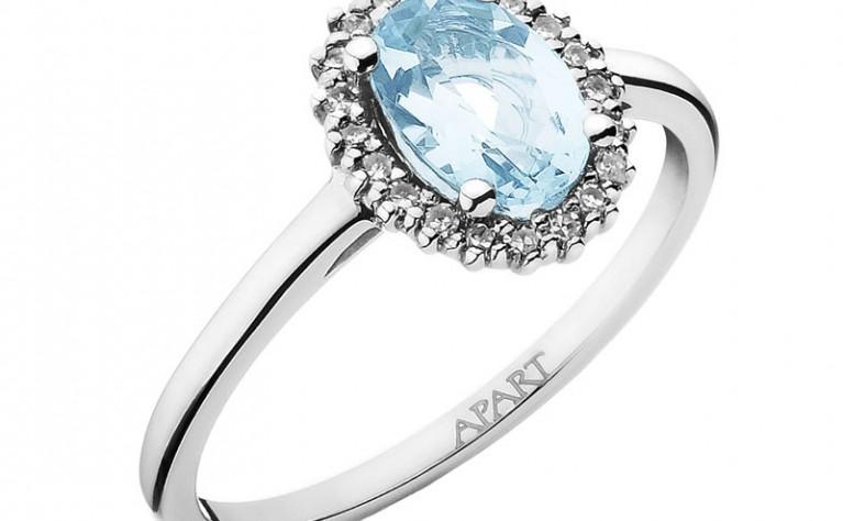Pierścionek Zaręczynowy Z Kamieniem Szlachetnym