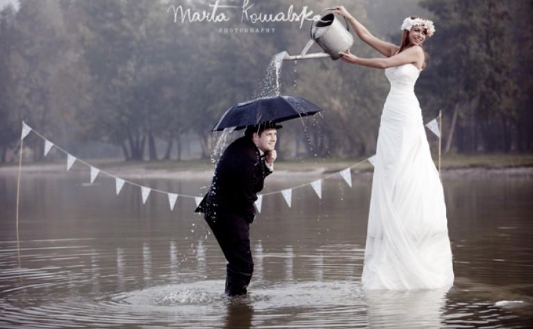 Karolina I Dominik Sesja ślubna Na Jeziorze ślub Na Głowie