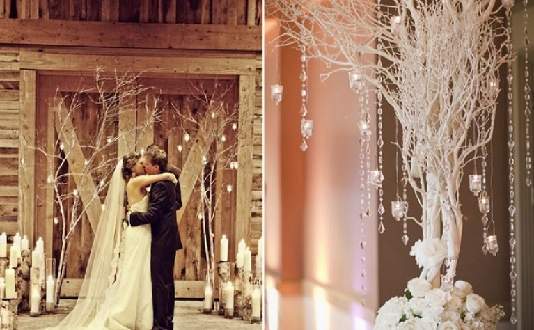 Kilka pomysłów na śnieżne dekoracje weselne