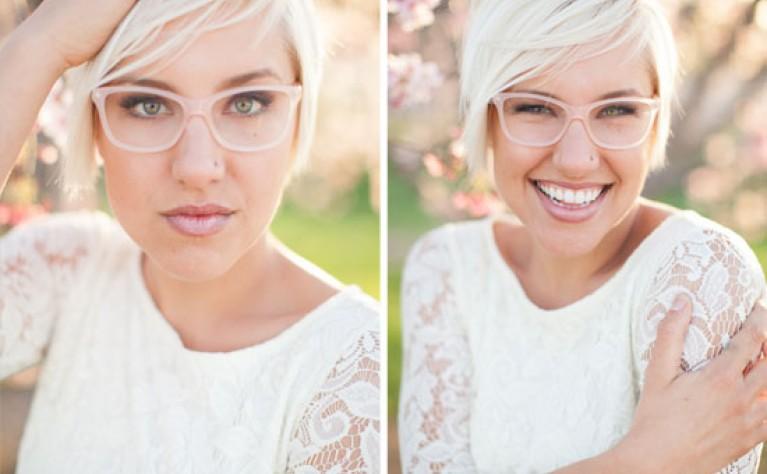 Panna Młoda w okularach