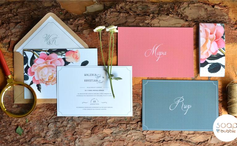 Zaproszenia ślubne z kwiatowym motywem