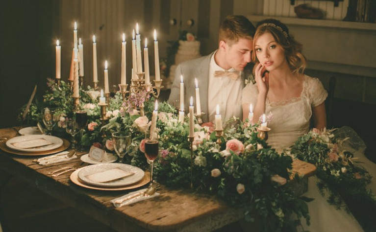 Świece na ślubie i weselu - garść inspiracji