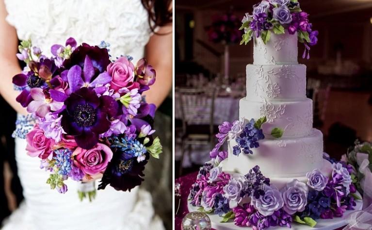 ślub I Wesele W Kolorze Fioletu