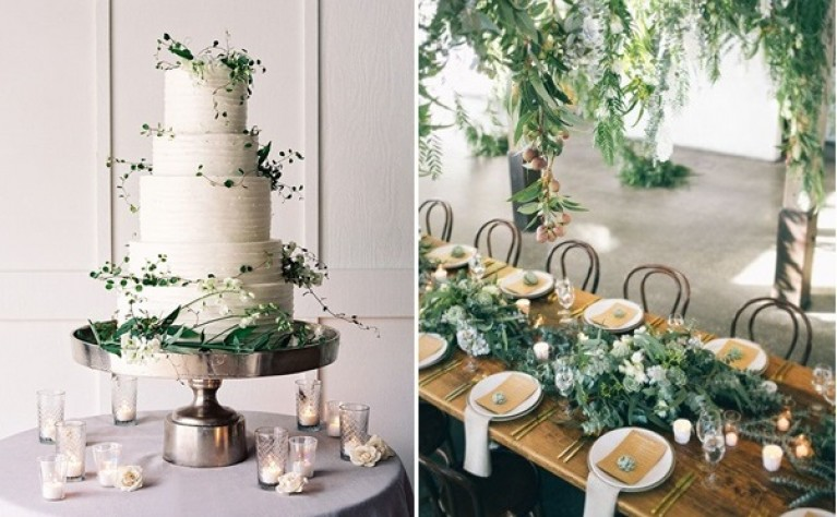 ŚLUBNE TRENDY 2017 - TOP 30 pomysłów na ślub z motywem zieleni