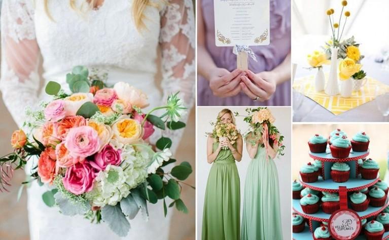 7 wymarzonych kolorów z letniej palety ślubnej