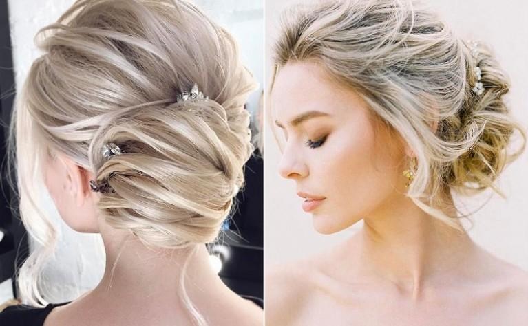 40 inspirujących fryzur ślubnych dla posiadaczek włosów o średniej długości