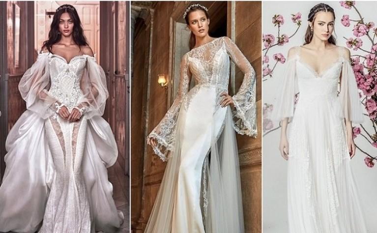 Trendy – suknie ślubne z rękawami w kształcie dzwonów