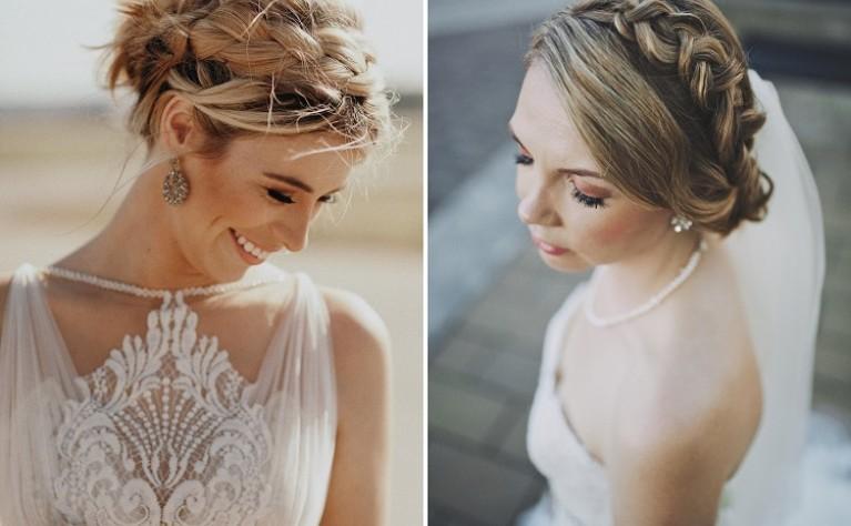Jak upleść ślubny warkocz na krótszych włosach?