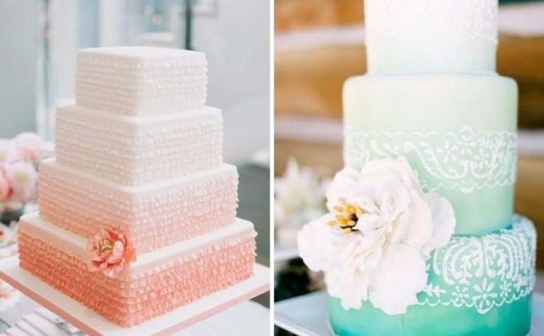 Oryginalne torty weselne z falbankami