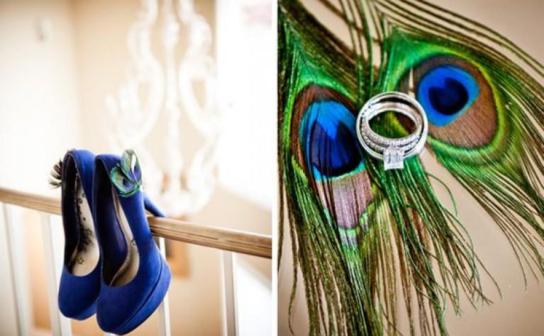 Stylizacja ślubna z pawim oczkiem
