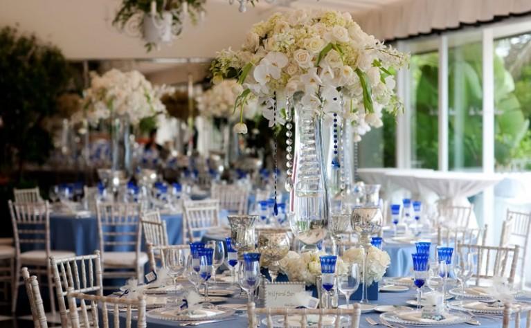 Ślub i wesele w niebieskim kolorze