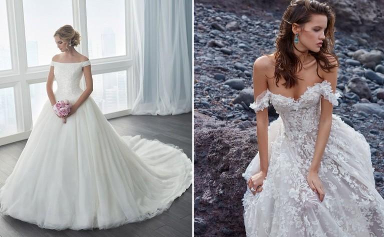 Romantyczny trend sezonu: suknie ślubne z opadającymi ramiączkami