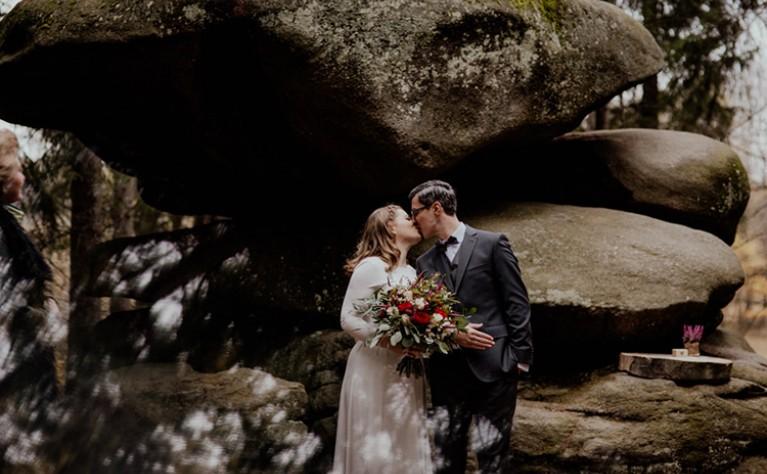 Anita i Łukasz - plenerowy ślub w górach, Fotografia:  JOANNA JASKÓLSKA FOTOGRAFIA