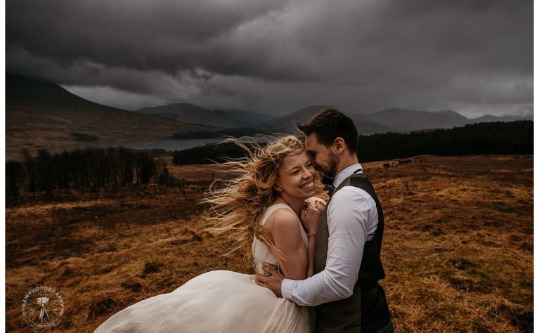 Aniela i Błażej - plener ślubny w Szkocji, Fotografia: B&W Photography