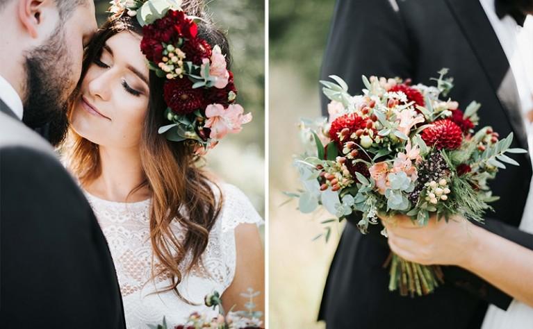 Ślub i wesele w modnym kolorze wina