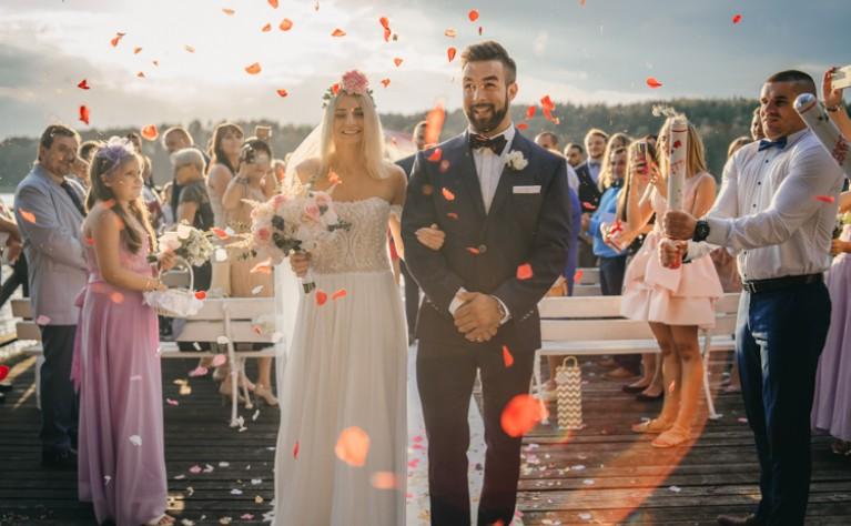 Paulina & Piotr - reportaż ślubny, wesele odbyło się w Ostoja Sport  Resort