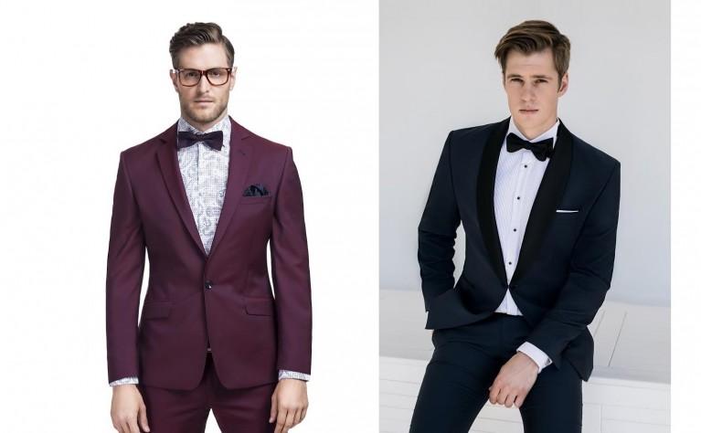 Garnitur – stylowa czerń vs wykwintne bordo
