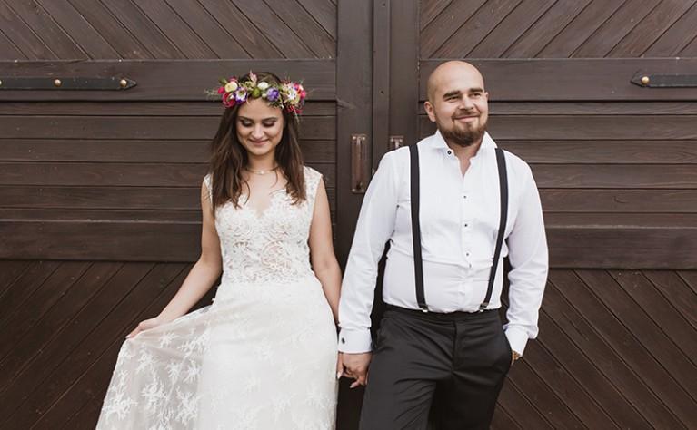 Ela i Kamil - rustykalne wesele w górach - reportaż: PUDELKOWSPOMNIEN.PL