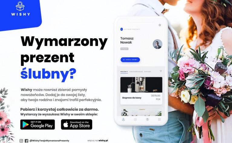 Wishy - darmowa aplikacja do organizacji listy prezentów (np. weselnych)