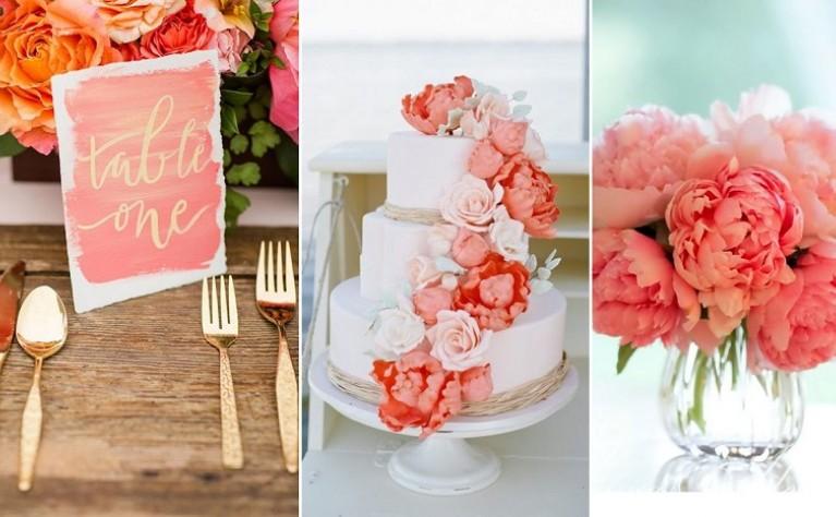 Koral – kolor 2019. Jak wykorzystać go w ślubno-weselnych stylizacjach?
