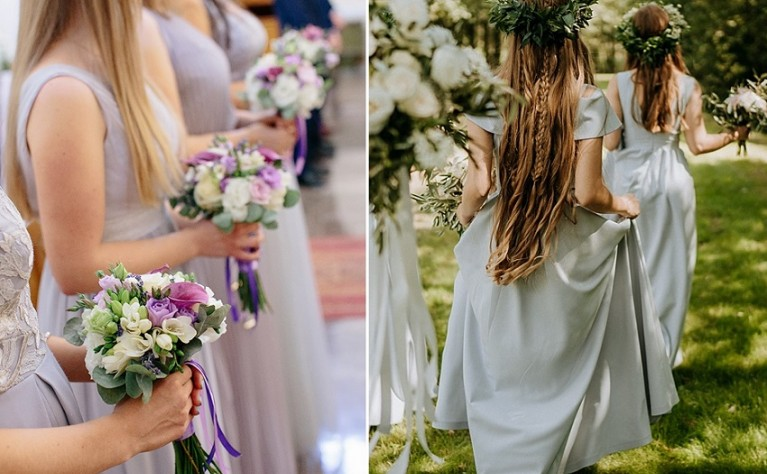 Najmodniejsze kolory sukienek dla druhen i gości na wesele