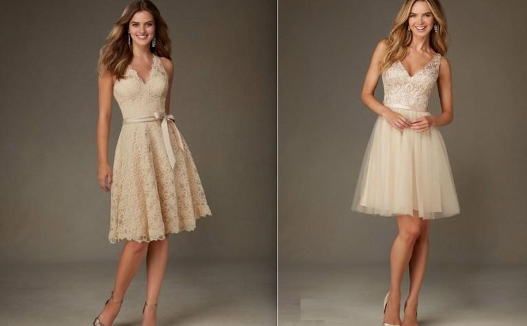 Ogromny Krótka suknia ślubna pełna uroku YK23