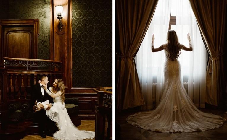 Kasia i Dawid - zjawiskowa sesja ślubna w Pałacu Goetz, Fotografia: Patrycja Kierońska